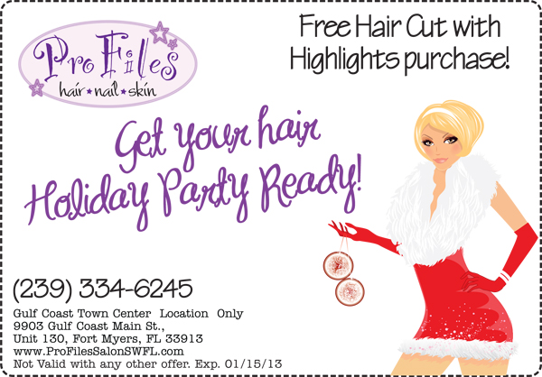 Holiday Hair Specials Pro Files Salon SWFL