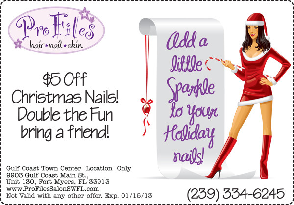 Holiday Nail Specials Pro Files Salon SWFL