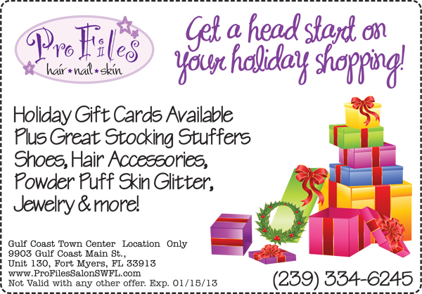 Holiday Gift Cards Available Pro Files Salon SWFL