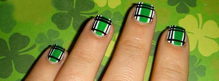 green nails designs
