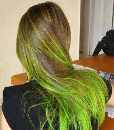 1 hair green