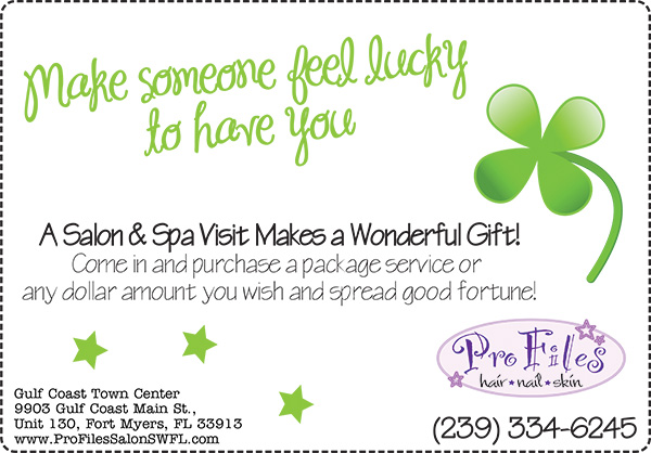 St Pattys gift certificate