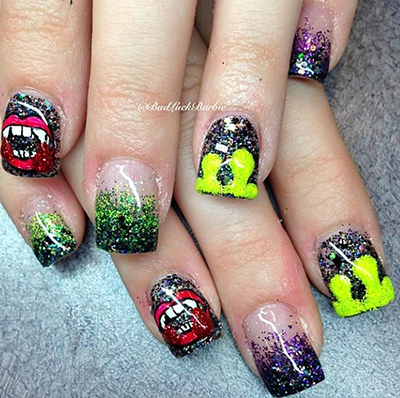 Halloween Nails by Lauren 3 a