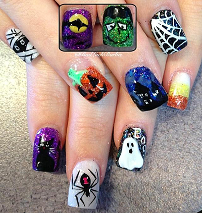 Halloween Nails by Lauren a