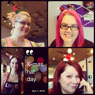 Christmas Hat Day Pro Files Salon SWFL