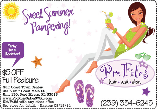 Pedicure Special Pro Files Salon Gulf Coast Town Center
