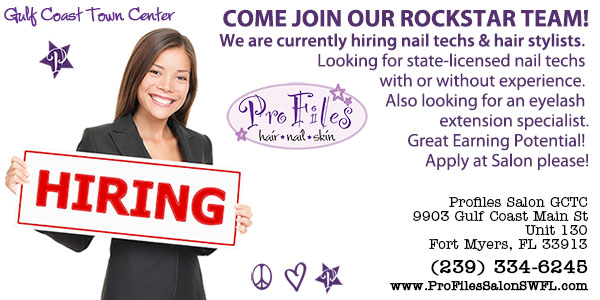 Now Hiring Pro Files Salon Gulf Coast Town Center