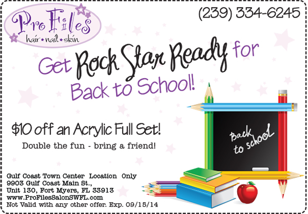 2014 Back to School Nails full set