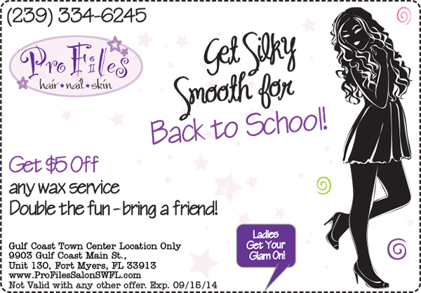 Back to School Wax Special Fort Myers